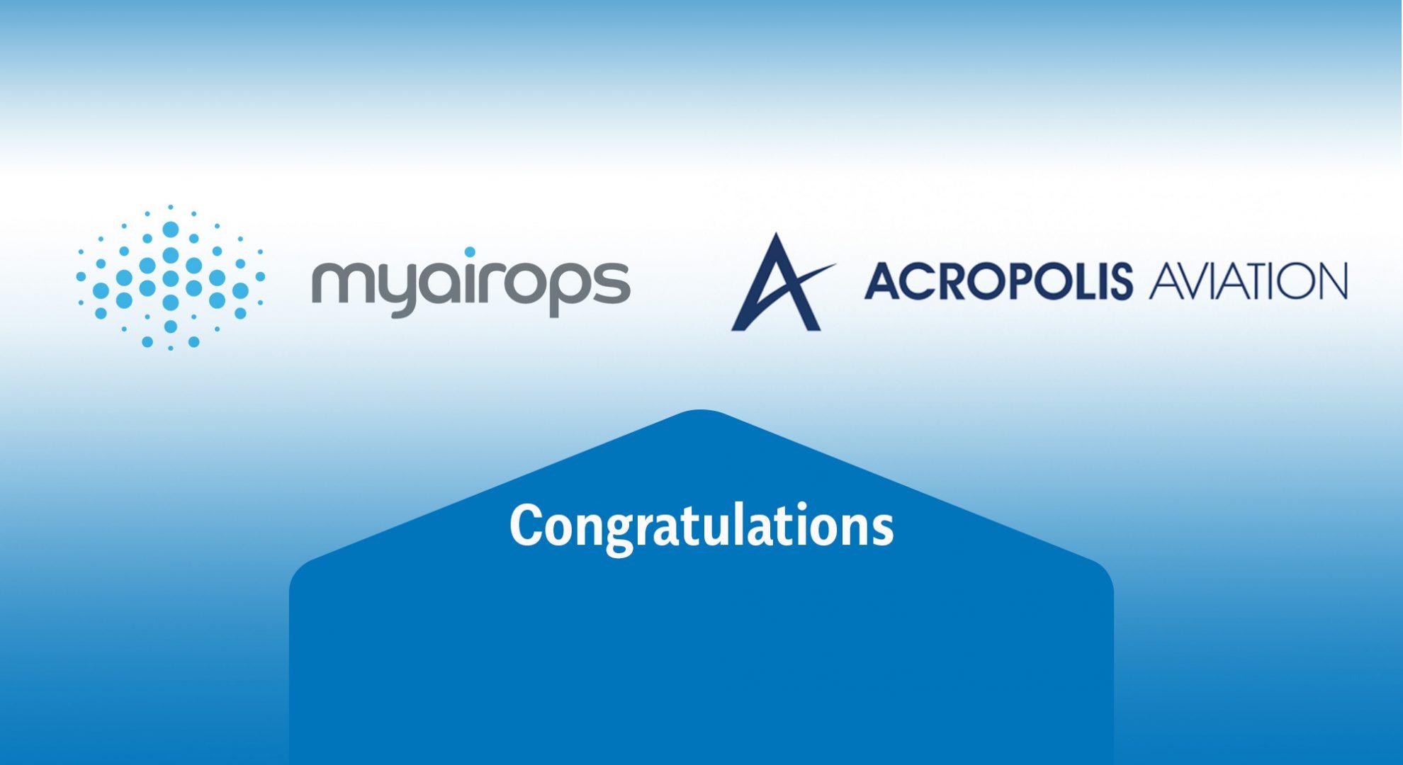 Acropolis Aviation select myairops flight header image
