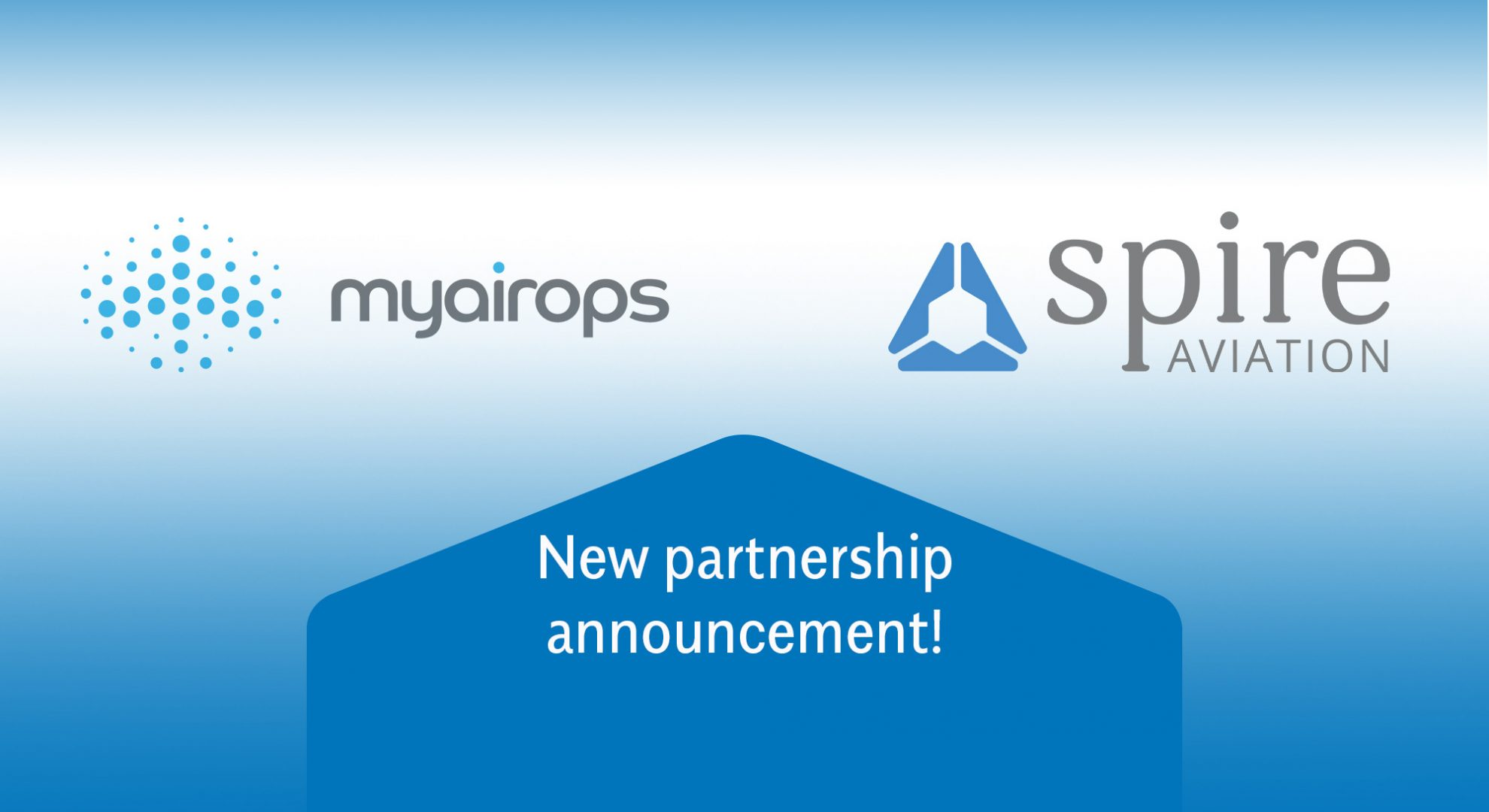 myairops announce strategic data partnership with Spire Aviation header image